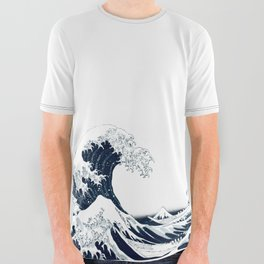 The Great Wave - Halftone All Over Graphic Tee