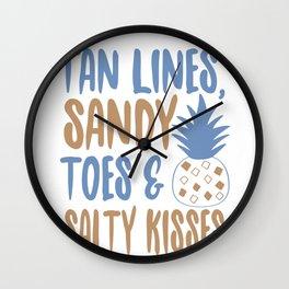 Tan lines - Adventure Design Wall Clock