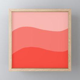 Living Coral Sushi Salmon Abstract Framed Mini Art Print