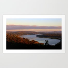 The Tamar River - From Brady's Look out Art Print