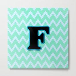 Letter F Metal Print