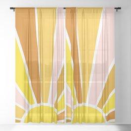 Sun Ray Burst Sheer Curtain