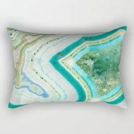 Sea Spray Crystal Agate Slice Rectangular Pillow