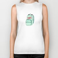 backpack Biker Tanks featuring Backpack by Mrs. Ciccoricco