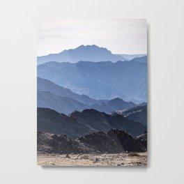 Mounain layers on desert Metal Print