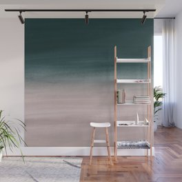 Touching Teal Blush Watercolor Abstract #1 #painting #decor #art #society6 Wall Mural