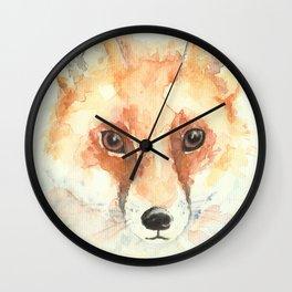 Watercolour Fox Wall Clock