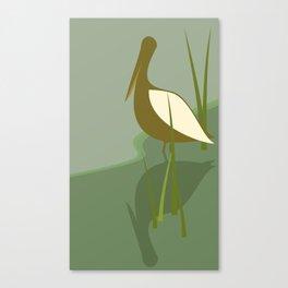 Brown Pelican Fishing Canvas Print