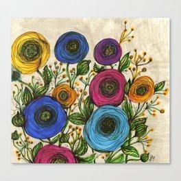 Round Ranunculus Canvas Print