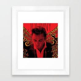 Wings of Fire Johnny Cash Framed Art Print
