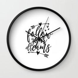Follow Your Dreams Baby Room Decor Baby boy Gift Follow Your Arrow Arrow Wall Decor Quotes Kids Wall Clock