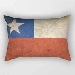 Old and Worn Distressed Vintage Flag of Chile Rectangular Pillow