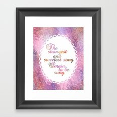 The Sweetest Song Framed Art Print