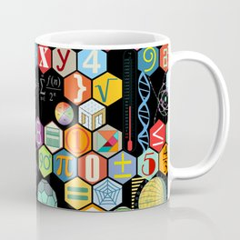 Math in color Black B Coffee Mug