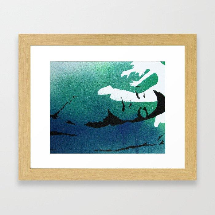 ich schlafe doch mein Herz ist wach 07 Framed Art Print