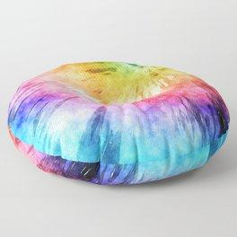 Tie Dye Watercolor Floor Pillow