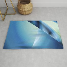 Blue abstract 2016 Rug