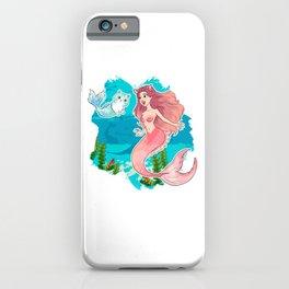 Cute & Funny Mermaid Cat Swimming Kitty Mermaidcat iPhone Case