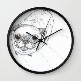 Slug Pug Wall Clock