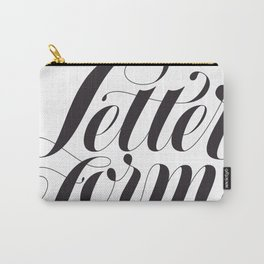 Letterforms Carry-All Pouch