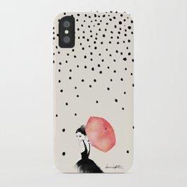 Polka Rain iPhone Case