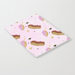 Raining Donuts: Pink Notebook