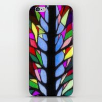 stained glass iPhone & iPod Skins featuring Stained Glass by Sartoris ART