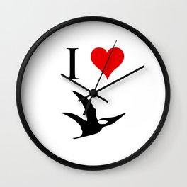 I Love Dinosaurs - Pterodactyl Wall Clock