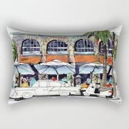 South Beach Sidewalks Rectangular Pillow