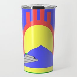flag of Roswell with flying saucer Travel Mug