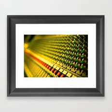 Buttons and Music Framed Art Print