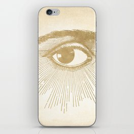 I See You. Vintage Gold Antique Paper iPhone Skin