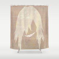 gurren lagann Shower Curtains featuring Minimalist Viral by 5eth