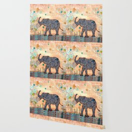 majestic series: elephant mirage Wallpaper