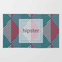 hipster Area & Throw Rugs featuring Hipster by eARTh