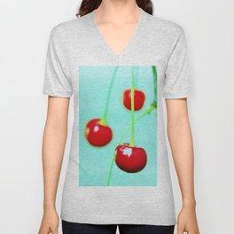 Red cherries Unisex V-Neck