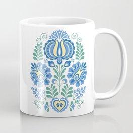Moravian Folk Design Blue Coffee Mug