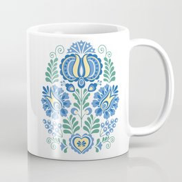 Moravian Folk Design Blue Coffee Mug