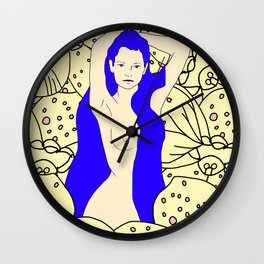 Orchid Maiden Wall Clock
