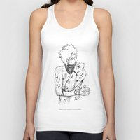 the dude Tank Tops featuring Dude by LSjoberg