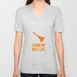 Living My Best Life Costume Witch Design Unisex V-Neck