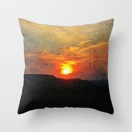 Goodnight, Sun Throw Pillow