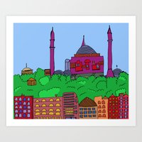 istanbul Art Prints featuring Istanbul by andy_panda_