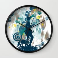 le petit prince Wall Clocks featuring le petit prince 2010 by frederic levy-hadida