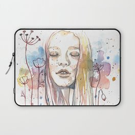 Meditation, watercolor  Laptop Sleeve