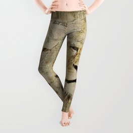 Lion Vintage Africa old Map illustration Leggings