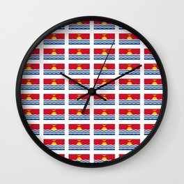 flag of kiribati - Gilbertese,I-Kiribati,Gilberts,Kingsmills,pacific,Tarawa Wall Clock