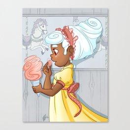 Ice Cream Carousel Canvas Print