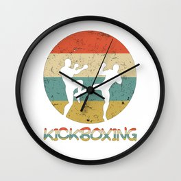 Kickboxing Vintage Gift for Martial Arts Fighters And Kickboxer Wall Clock