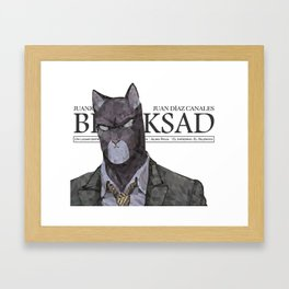 Polygonal Cat - Blacksad Framed Art Print